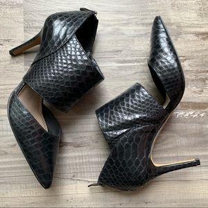 Vince Camuto 8 Tanzie Black Embossed Cutout Heels